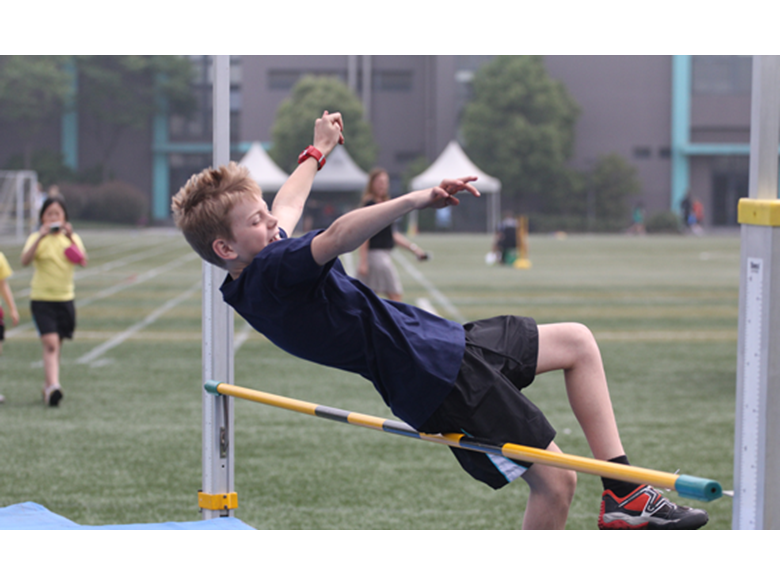 Primary students at The British International School Shanghai, Puxi take part in their Sports Day events