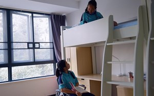 Students in a boarding school dormitory