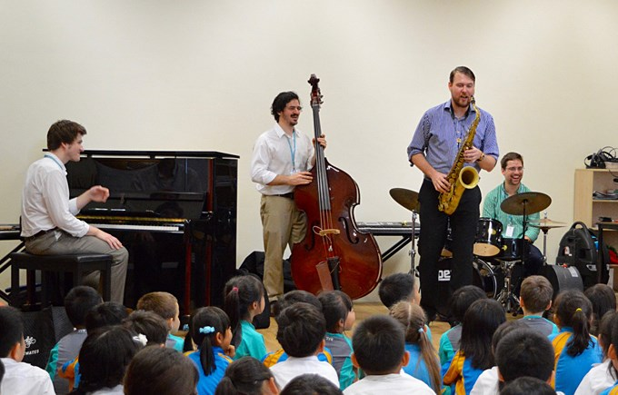 Roy McGrath Band Visits DCIS