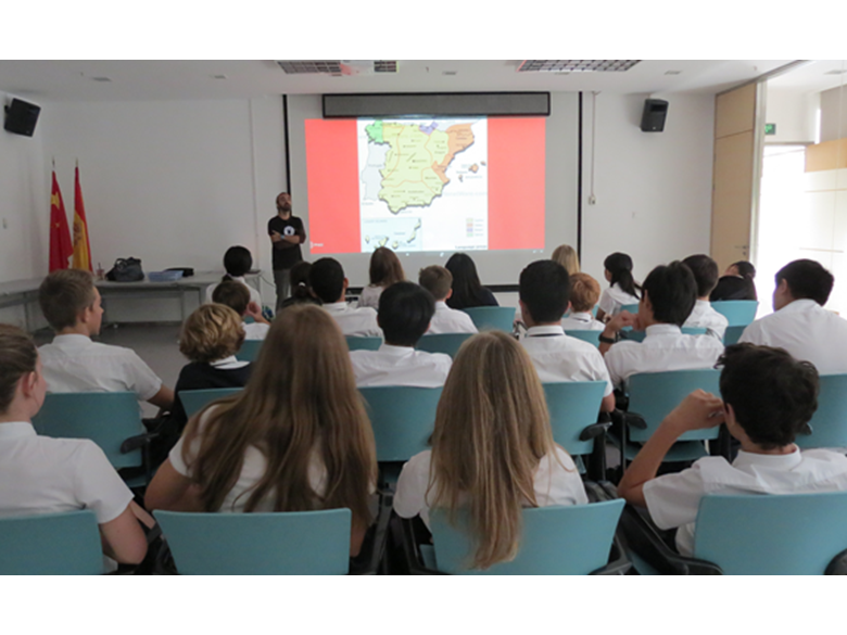 Year 9 students from the British International School Shanghai, Puxi in the French Concession on a Spanish Trip