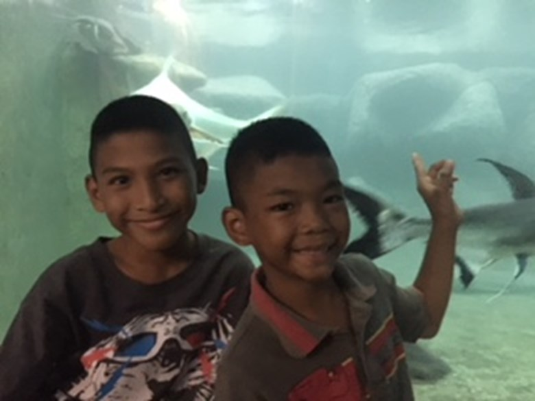 Secondary and Haven visit Monsters Aquarium