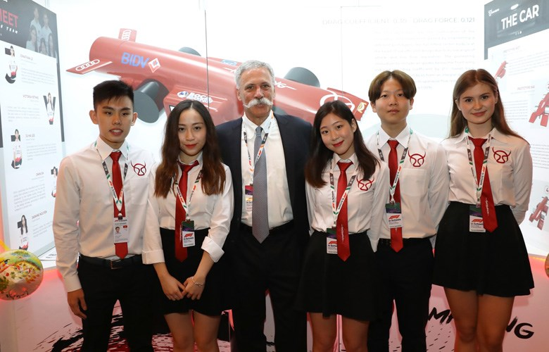 Nam Phong Racing meet Chase Carey