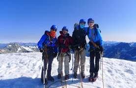 NAE Dover Court Alps Expedition Summit Photo July 2015