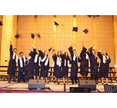 Graduates celebrate the completion of their education at BSG.