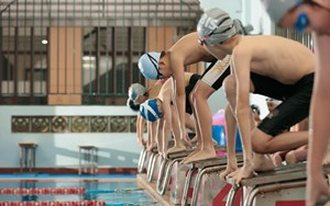 Students using swimming facilities at BIS Ho Chi Minh City