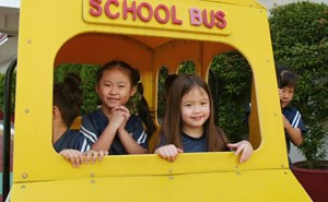 Students in Play Bus