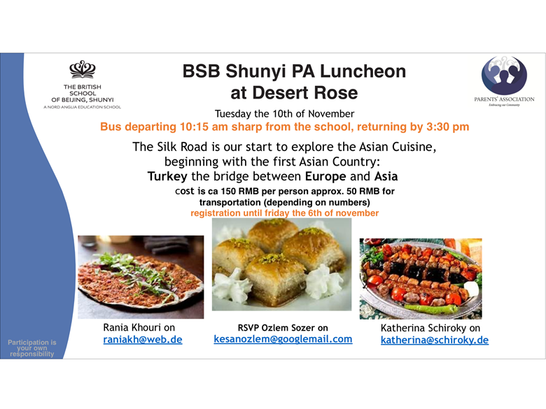 PA Luncheon at Desert Rose 10th Nov