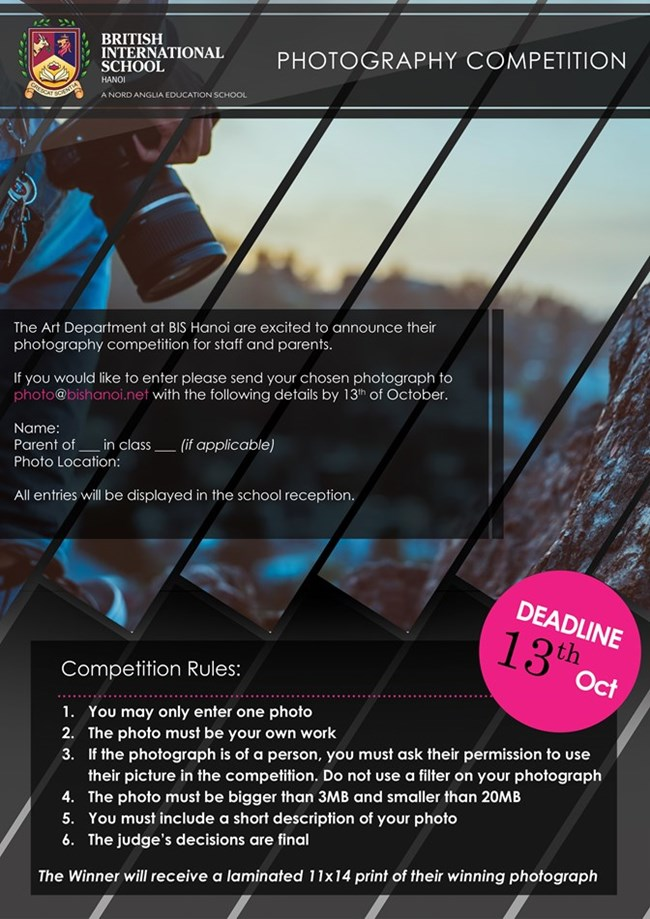 PHoto competition poster