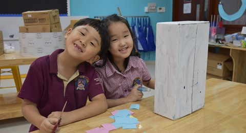 BVIS students enjoys learning at school