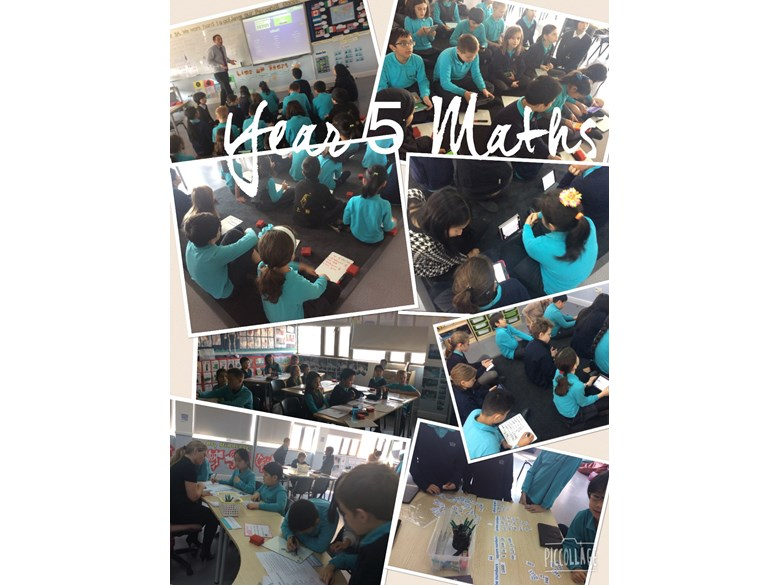 A glimpse of what Year 5 have been learning in their Maths classes this week