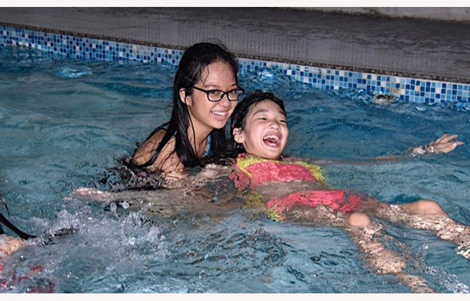 Swimming with Christina Noble Foundation