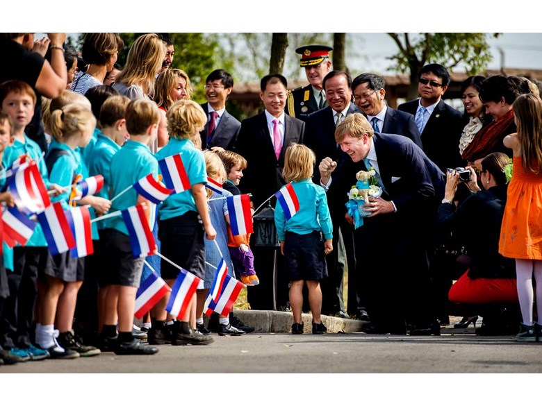 BISS Puxi Students Meet Dutch King