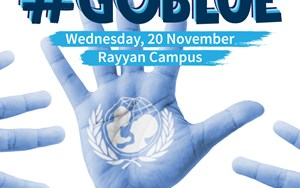 #GoBlue UNICEF World Children's Day - Rayyan