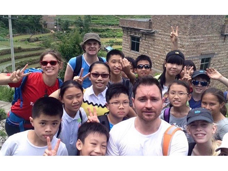 Year 6s and 7s in Getu Valley, China.