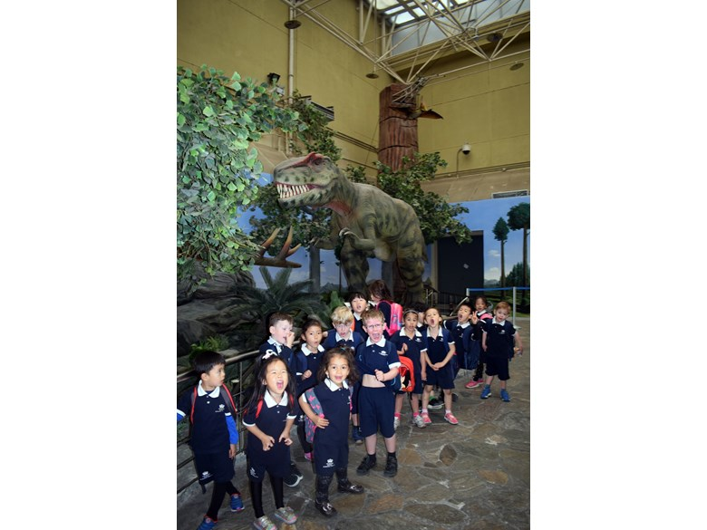 Reception visit to Dinosaur museum