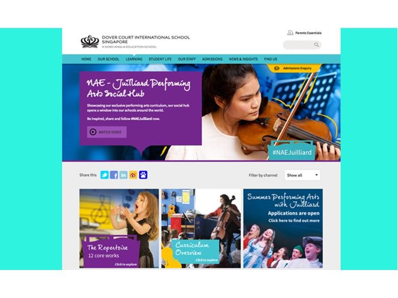 Juilliard-Nord Anglia Performing Arts Social Hub