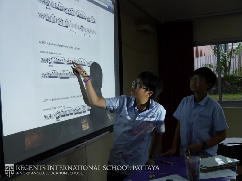 Juilliard embedded curriculum lesson Secondary school - Regents International School Pattaya