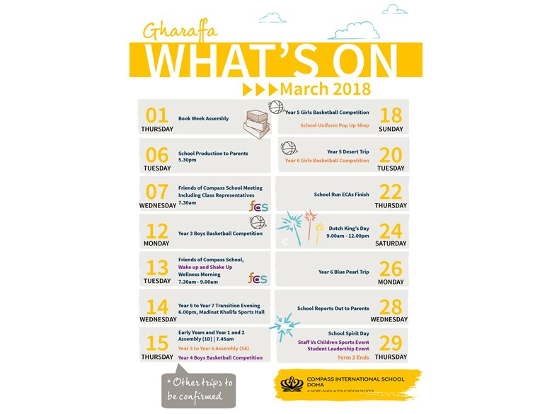 Gharaffa Whats on in March