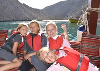 Girls Dhow Boat Oman 2014
