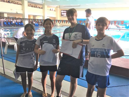 swim coaching team