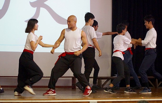 Kung Fu Showcase at Secondary School CNY Assembly