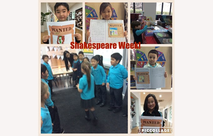 Shakespeare Week in Year 1