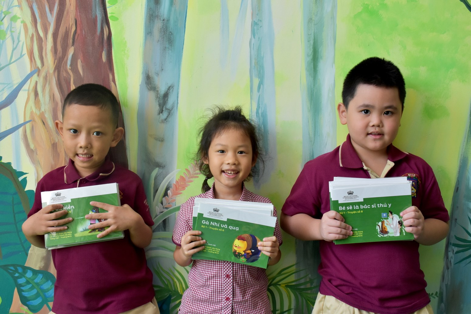 BVIS students enjoys unique phonics books