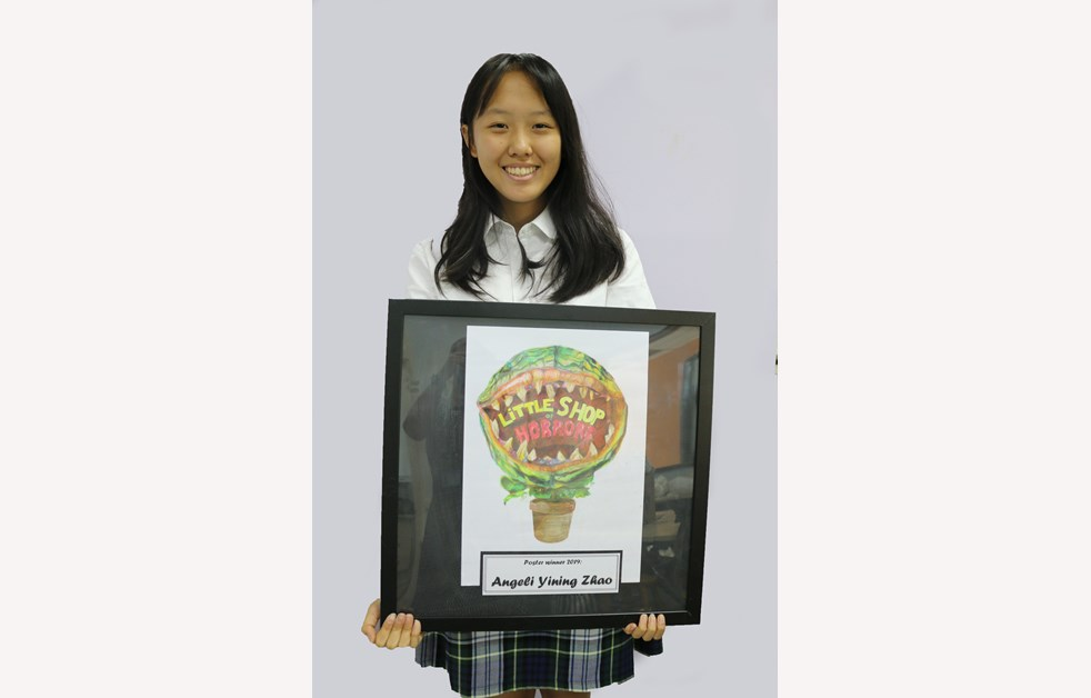 Yining Zhao (Angeli) Year 9 with winning poster