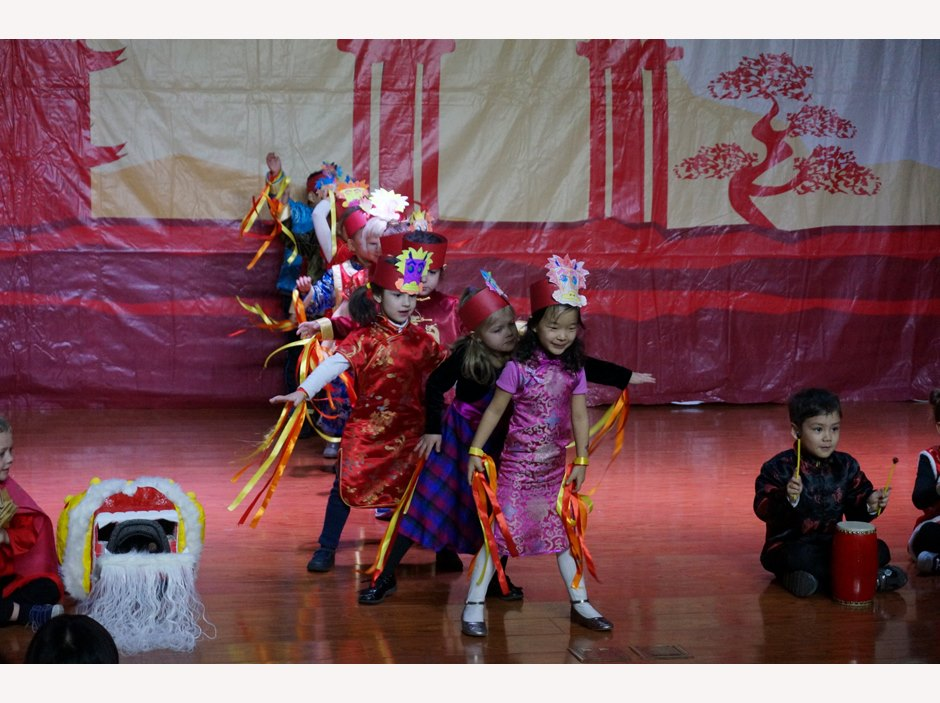 Chinese New Year - Students dancing