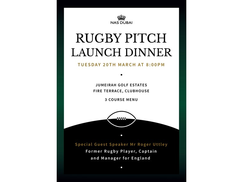 Rugby Pitch Launch Dinner