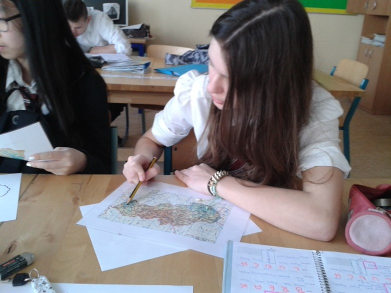 Geography class - learning about Slovakia