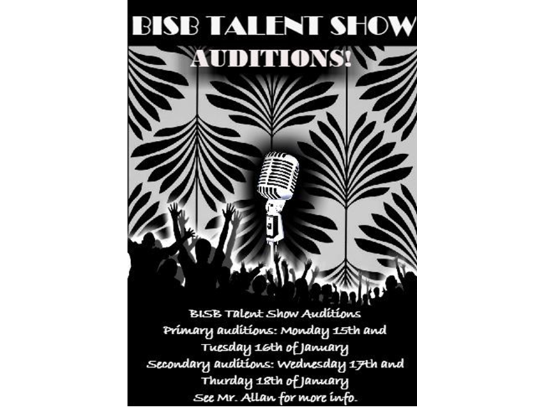 BISB Talent Show Audition