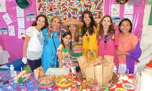 The Mexican stand at the annual international bazaar
