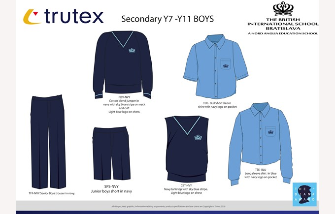 New uniforms Y7- Y11 BOYS