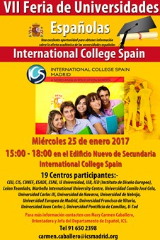 La Feria de Universidades en International College Spain Madrid 2017