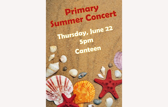 Primary Summer Concert post