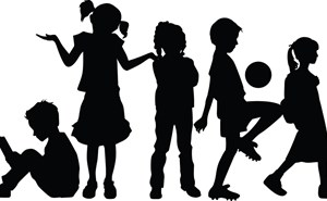 Children silhouttes