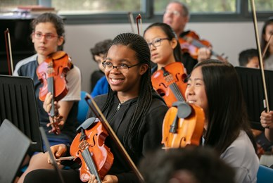 ICS Orchestra the benefits of studying music with Juilliard