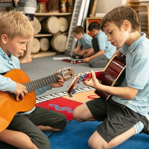 primary students music