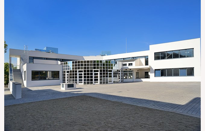 The entrance to the new Secondary School Extension