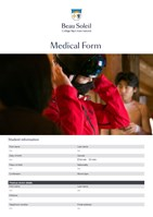 Beau Soleil_Medical Form