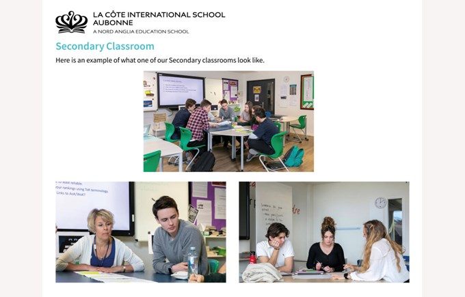 LCIS Secondary Classrooms