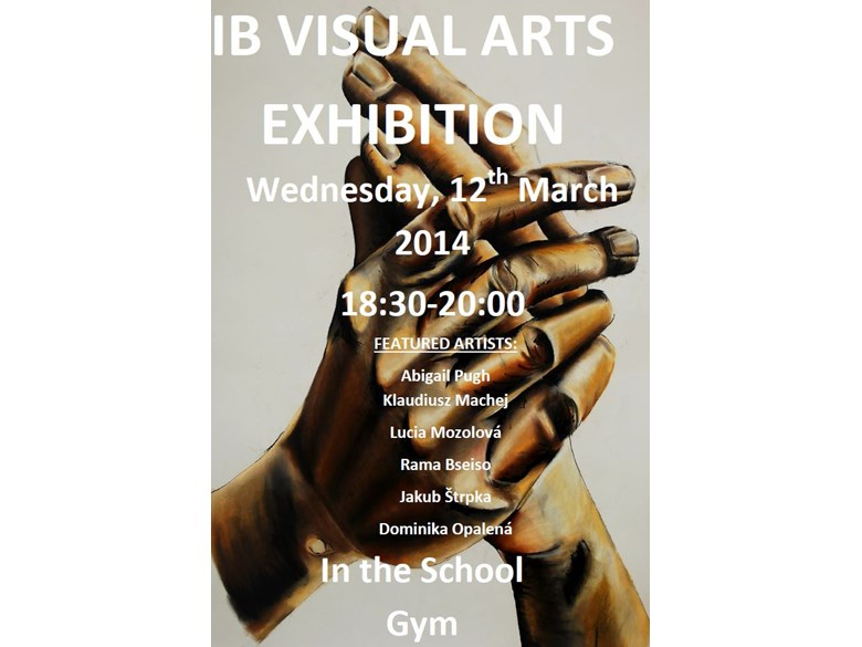 IB visual art exhibition 2014 poster