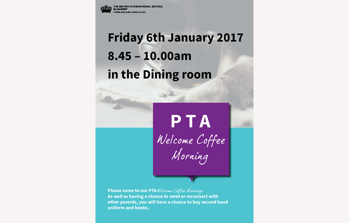 PTA Welcome Coffee Morning