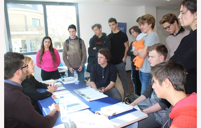 ICS Madrid Spanish Universities Fair Students engaged