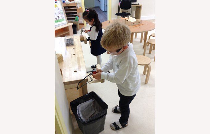 Woodwork in Reception