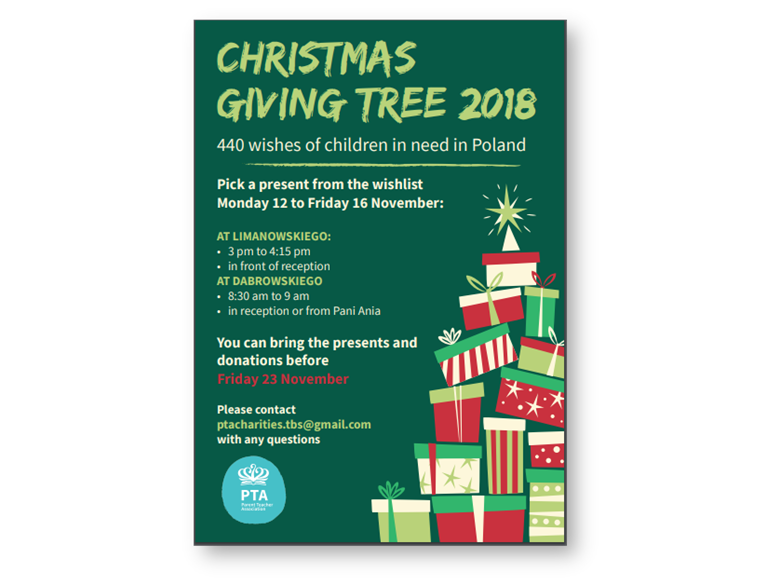 Xmas Giving Tree Poster 2018