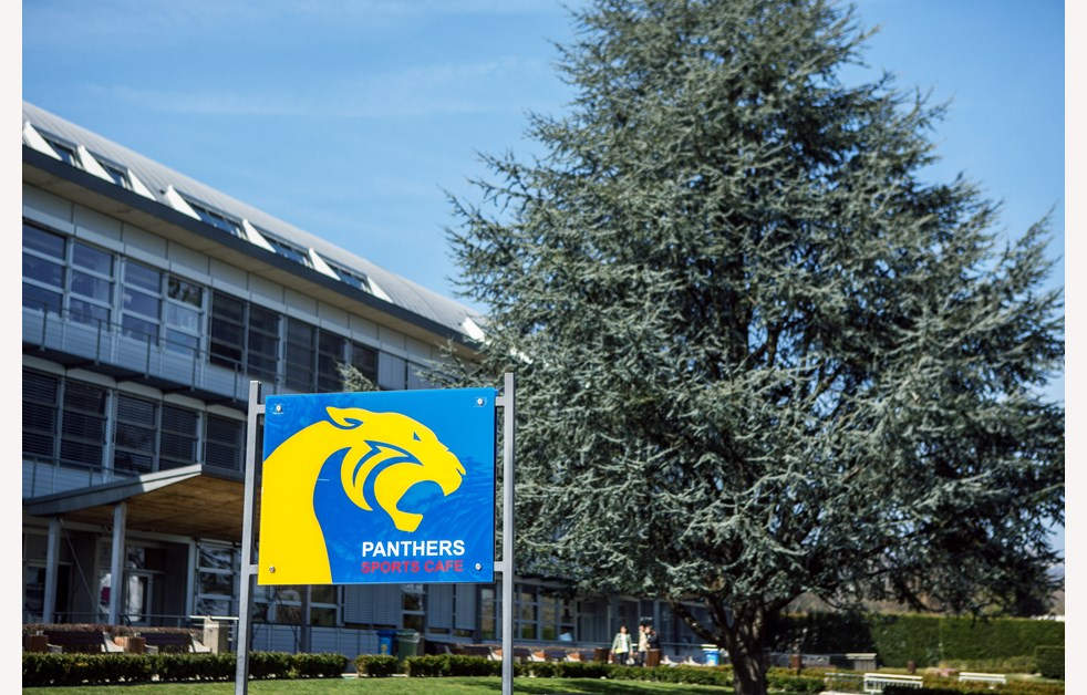 Campus Panthers sign