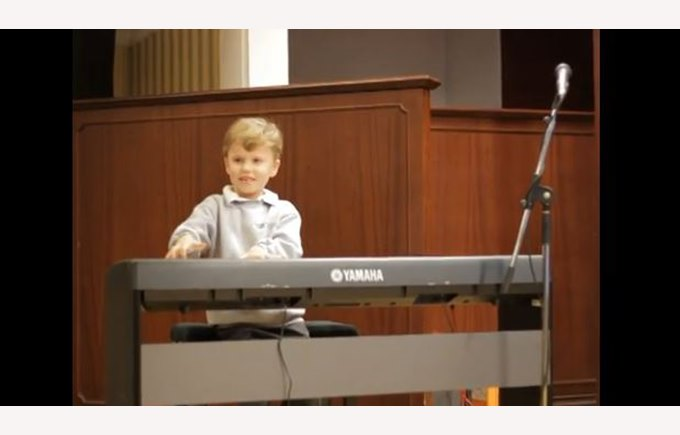 Ryan playing piano