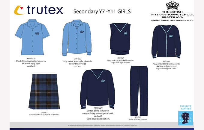 New uniforms Y7- Y11 girls